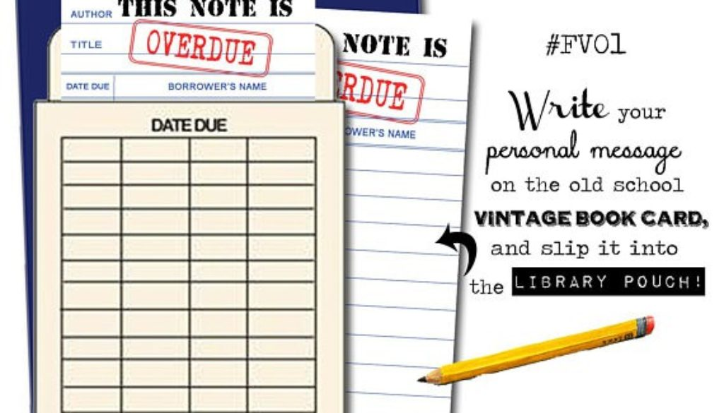 This Note Is Overdue Book Pouch Card