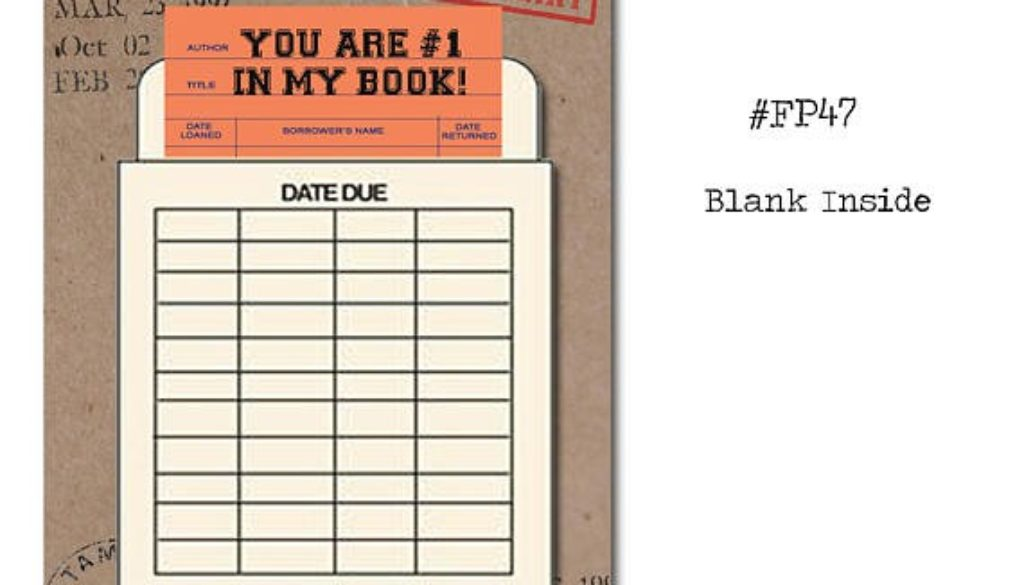 You Are #1 In My Book | Folded 'Library Cards'